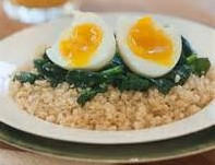 Quinoa, Spinach & Poached Eggs